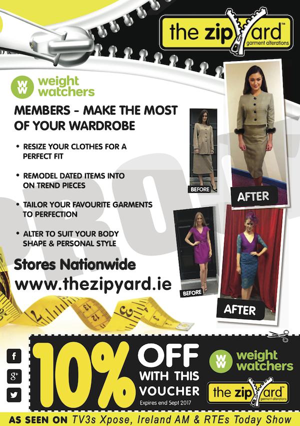 The ZipYard 2017 - WeightWatchers 10% off